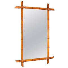 Faux Bamboo Mirror