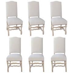 Set of Six Os de Mouton Dining Chairs