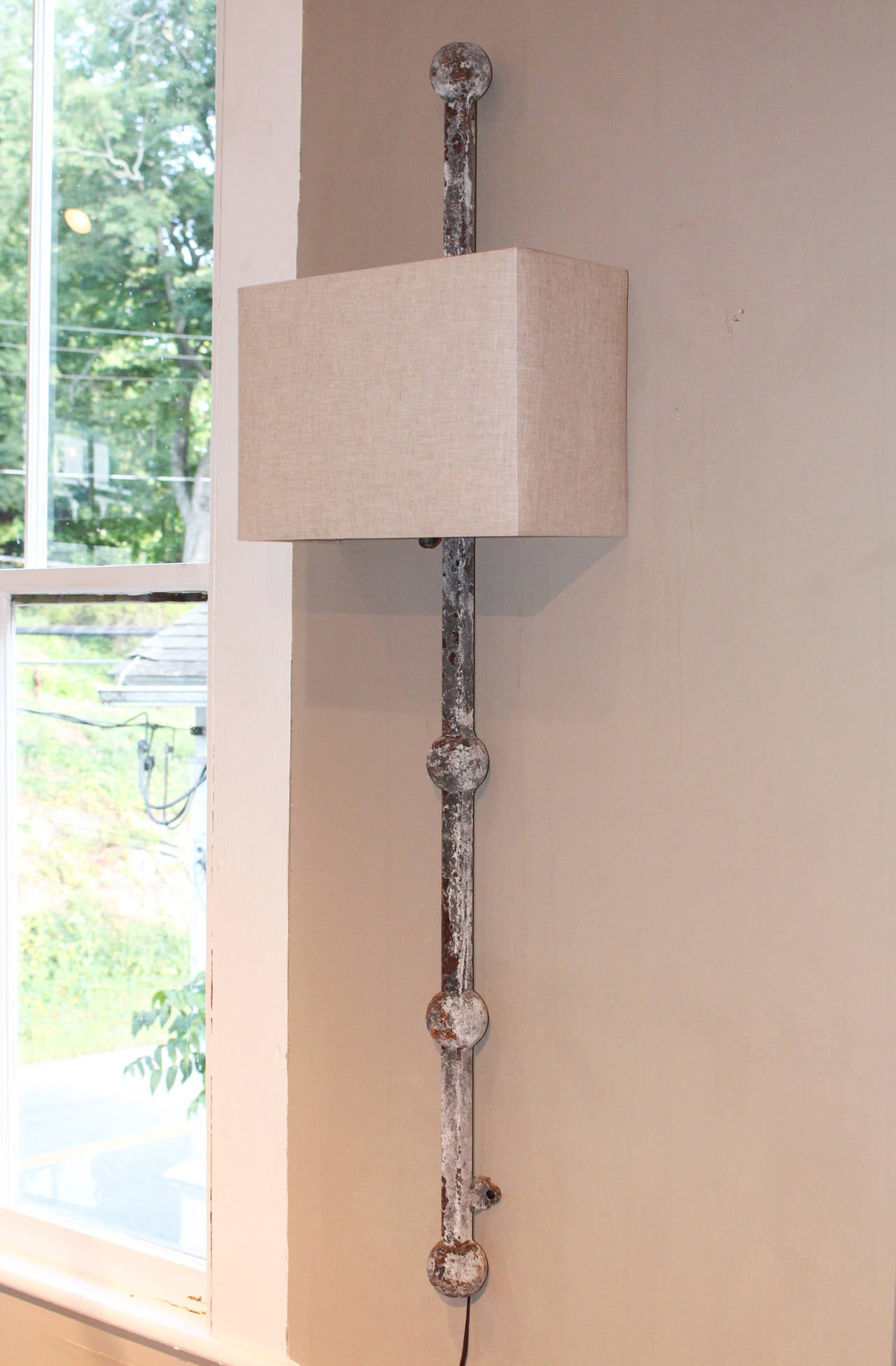Pair of Tall Iron Wall Sconces 2