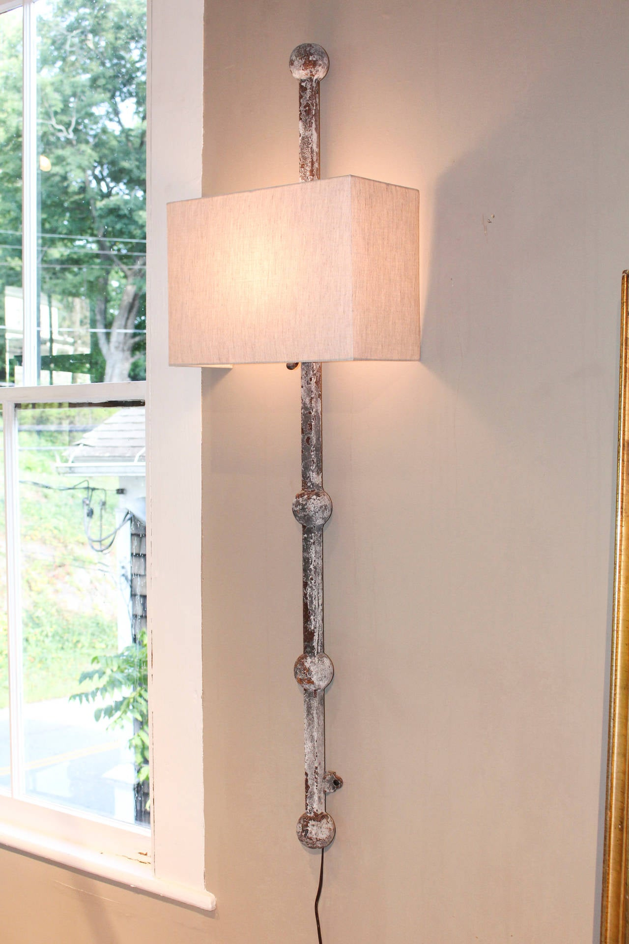 Pair of Tall Iron Wall Sconces 3