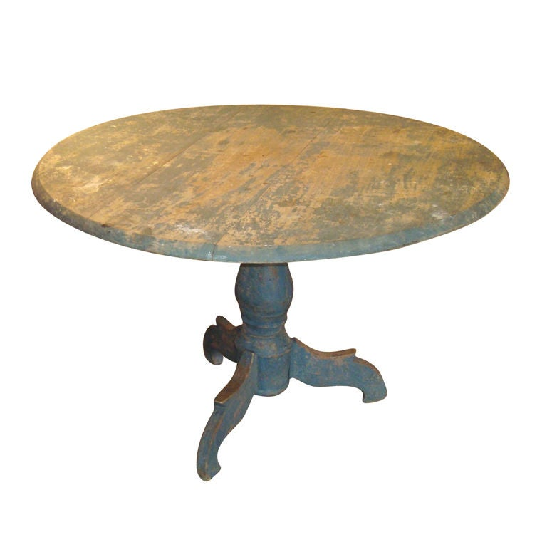 Painted Pedestal Table 1