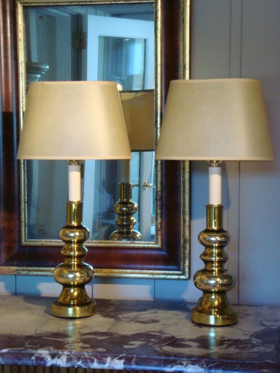 this pair of gold mercury glass lamps is no longer available. Black Bedroom Furniture Sets. Home Design Ideas