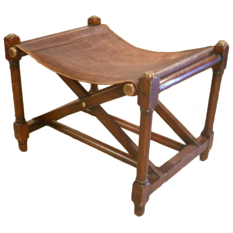Campaign Style Bench At 1stdibs