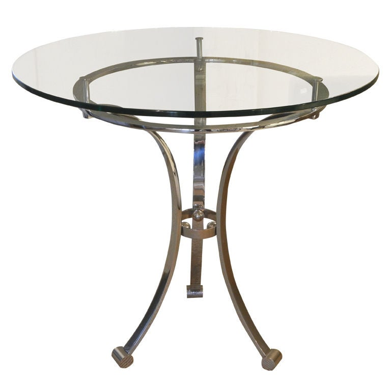 Glass Top Side Table At 1stdibs
