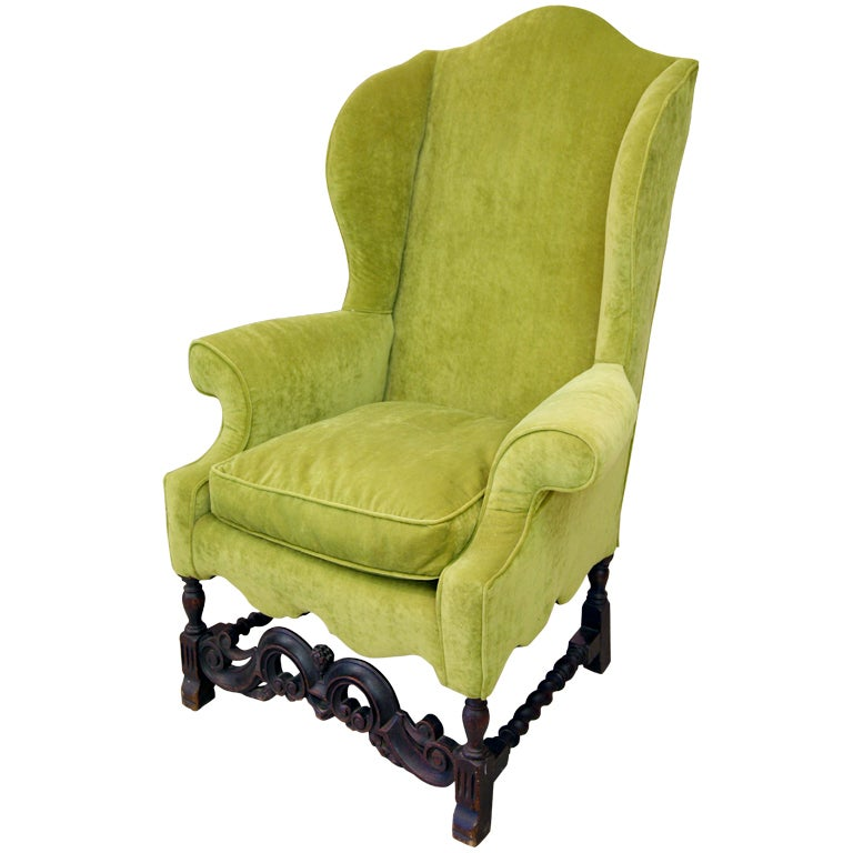 Throne Like Wing Chair For Sale