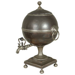 English Neoclassical Spherical Water Urn