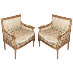 Pair of Louis XVI Marquise Chairs