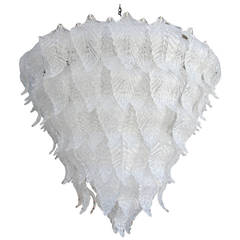 1960s Murano Glass Leaf Chandelier in the Style of Seguso