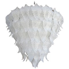 Murano Glass Leaf Chandelier in the Style of Seguso, 1960s