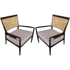 Pair of Brazilian Jacaranda Cane Chairs by Studio Branco & Preto