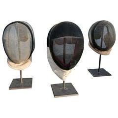 Set of Vintage Fencing Masks
