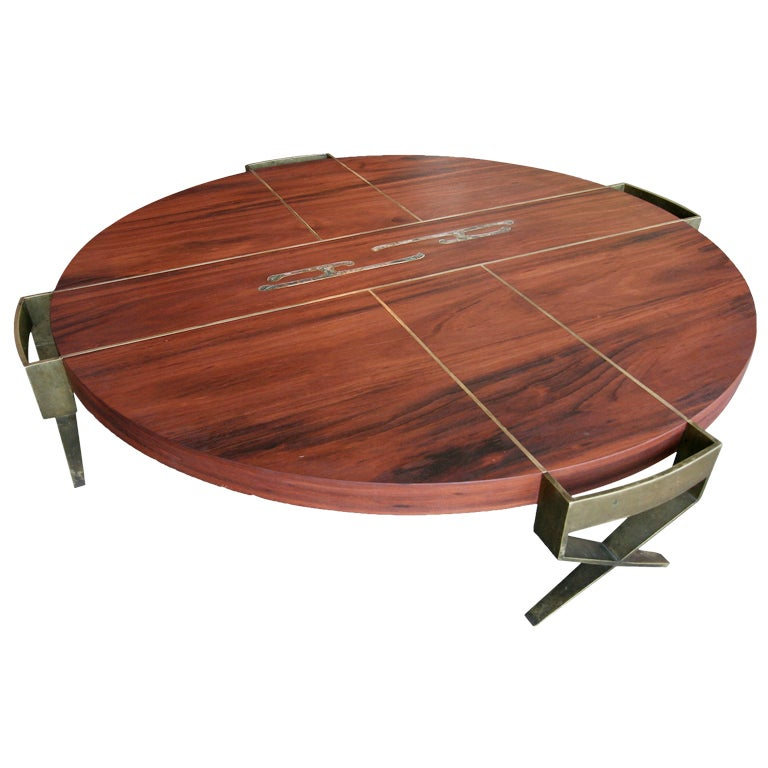 Rare coffee table by pepe mendoza at 1stdibs for Extremely exotic coffee tables