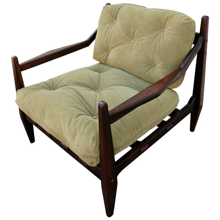 Jean Gillon 1960s Brazilian Jacaranda Armchair For Sale
