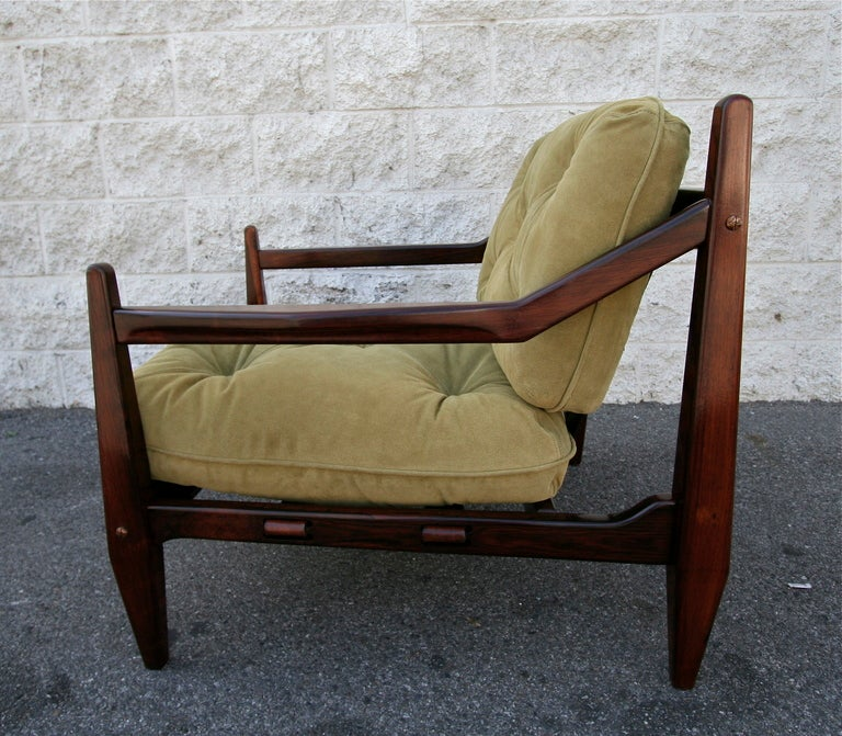 Jean Gillon 1960s Brazilian Jacaranda Armchair In Excellent Condition For Sale In Los Angeles, CA
