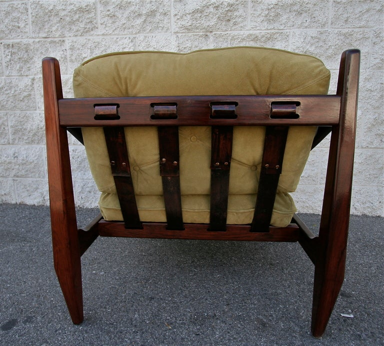 Mid-20th Century Jean Gillon 1960s Brazilian Jacaranda Armchair For Sale