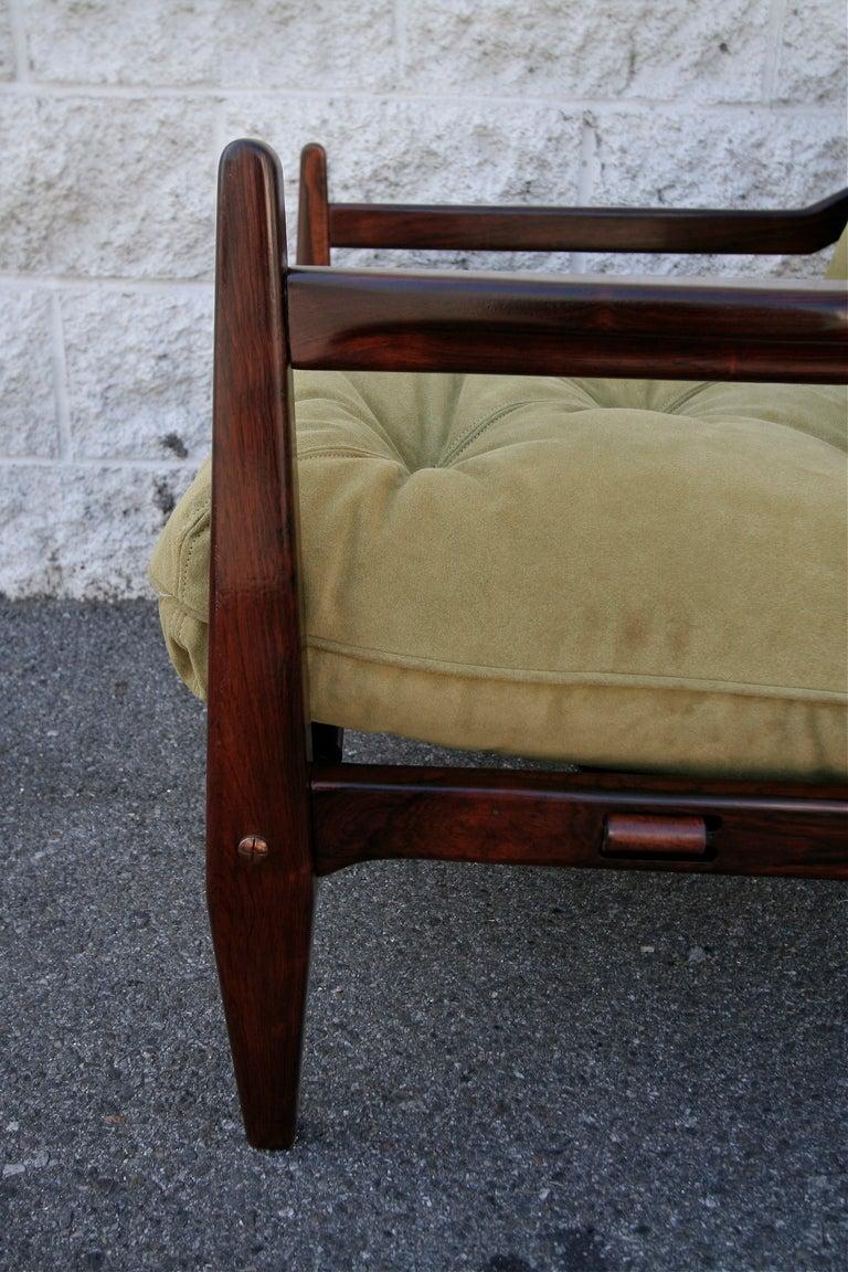 Jean Gillon 1960s Brazilian Jacaranda Armchair For Sale 1