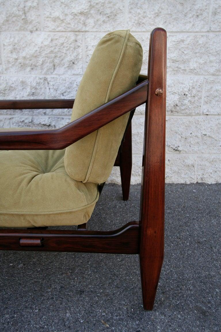 Jean Gillon 1960s Brazilian Jacaranda Armchair For Sale 2