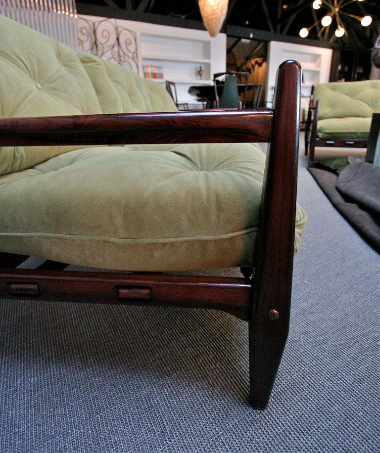 Jean Gillon 1960s Brazilian Jacaranda Three-Seat Sofa For Sale 3