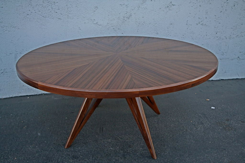 Custom Star Leg Round Wood Dining Table for Eight 5