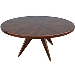Custom Star Leg Round Wood Dining Table for Eight by Adesso Imports