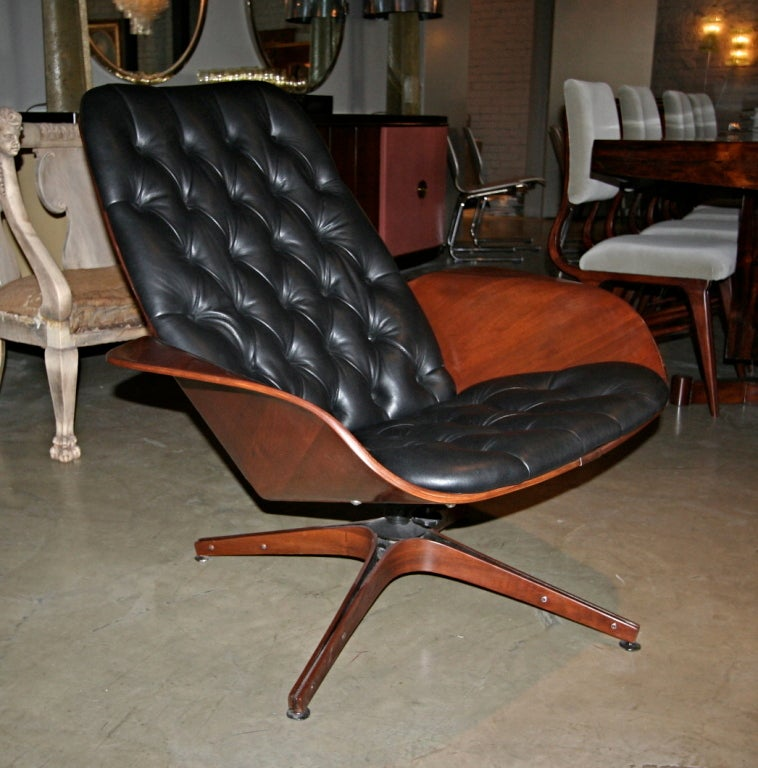 50 S Plycraft Tufted Lounge Chair By George Mulhauser At