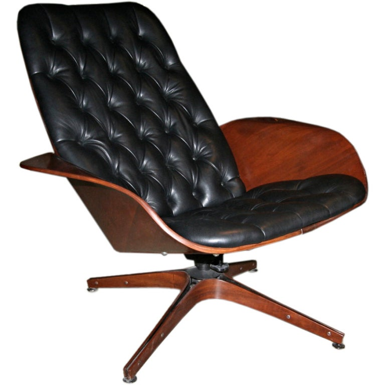 50 s Plycraft Tufted Lounge Chair by George Mulhauser at 1stdibs