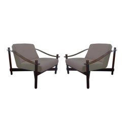 Pair of 60's Jacaranda Armchairs