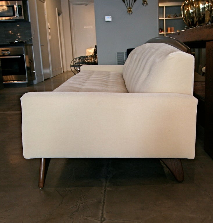 1970s Mohair Sofa Attributed to Adrian Pearsall In Excellent Condition In Los Angeles, CA