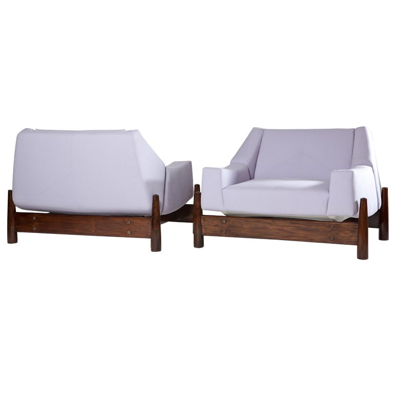 Pair of 1960s Percival Lafer Brazilian Club Chairs For Sale
