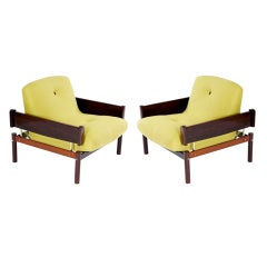 Pair of 60's Percival Lafer Armchairs