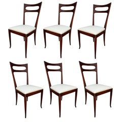 Set of Six 1960s Ico Parisi Dining Chairs