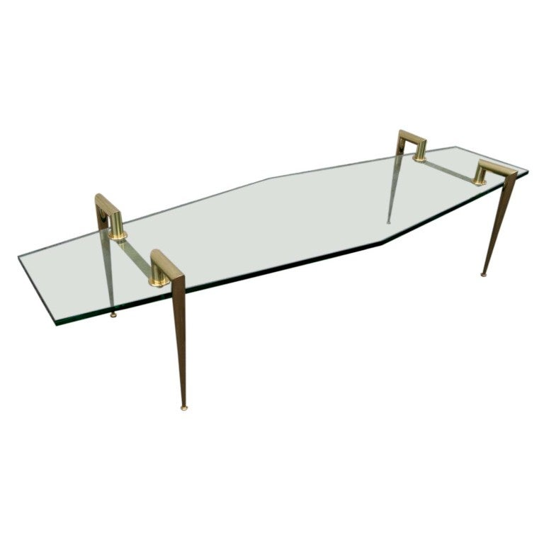 60 39 S Italian Glass Coffee Table At 1stdibs