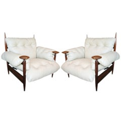 Pair of 1960s Brazilian Armchairs by M. L. Magalhães