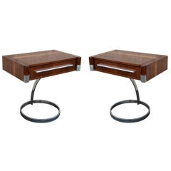 Pair of 70's Side Tables by Boris Tobakoff