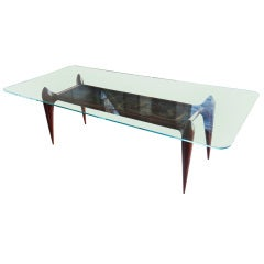 Rare 60's Scapinelli Dining Table with De Marchis Painting