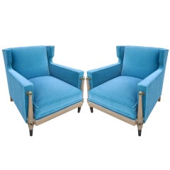 Pair of 1950s Arturo Pani Lounge Chairs