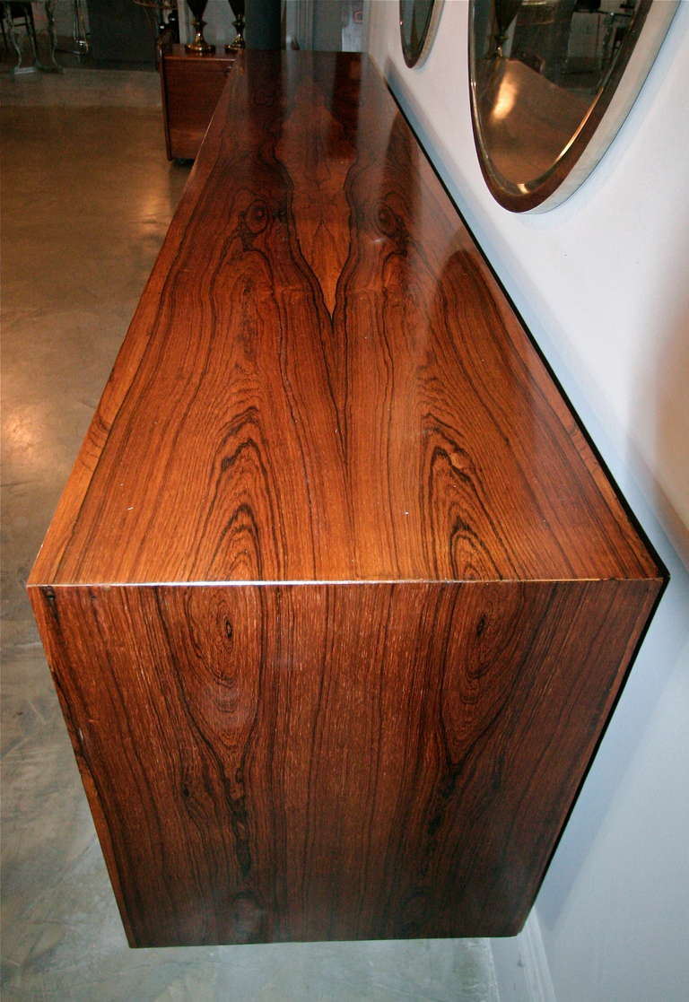 Long Brazilian Jacaranda Sideboard For Sale 1