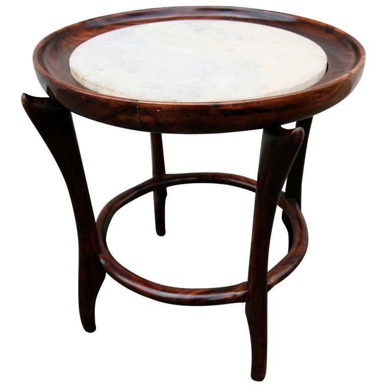 small jacaranda and marble side table at 1stdibs. Black Bedroom Furniture Sets. Home Design Ideas