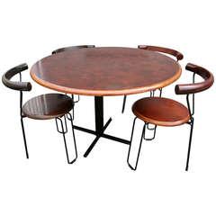 Brazilian Jacaranda 1960s Dining Table and Chairs by Novo Rumo