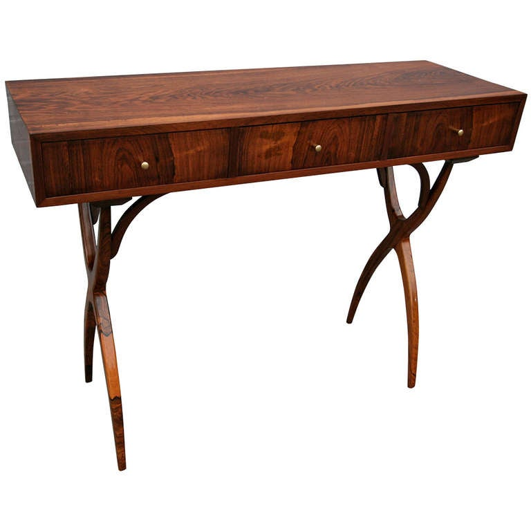 Scapinelli Console Table With Three Drawers At 1stdibs