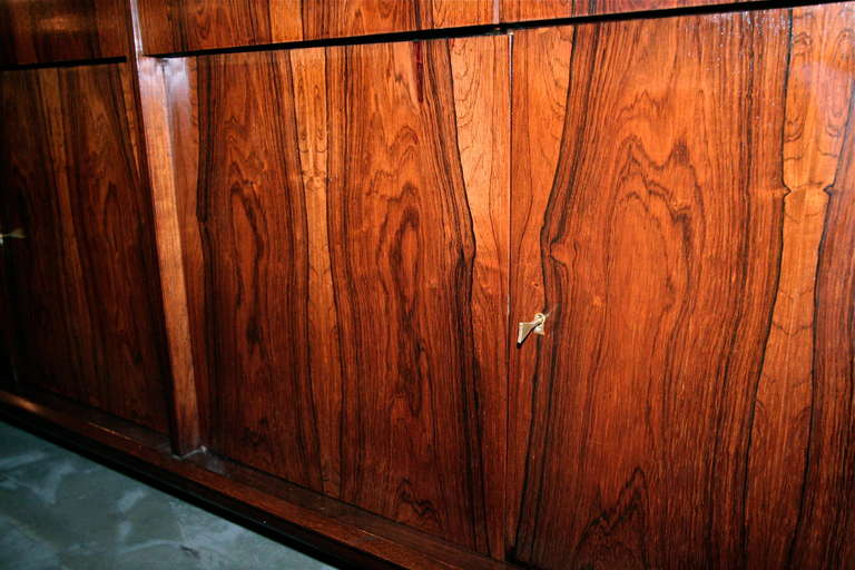 Long Brazilian Jacaranda Sideboard For Sale 2