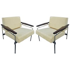 Pair of 1960s Sergio Rodrigues Brazilian Jacaranda Beto Chairs