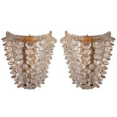 Pair of 60's Barovier e Toso Sconces