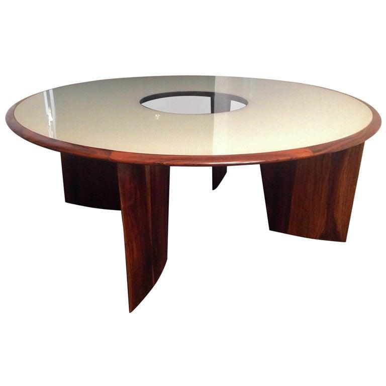 Tenreiro 1960s Brazilian Jacaranda Round Dining Table for Eight