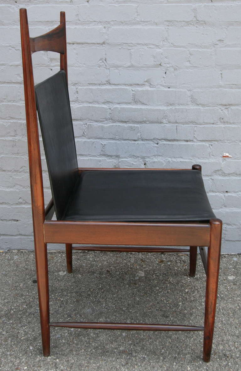 Mid-20th Century Set of 1960s Brazilian Jacaranda Cantu Chairs by Sergio Rodrigues For Sale