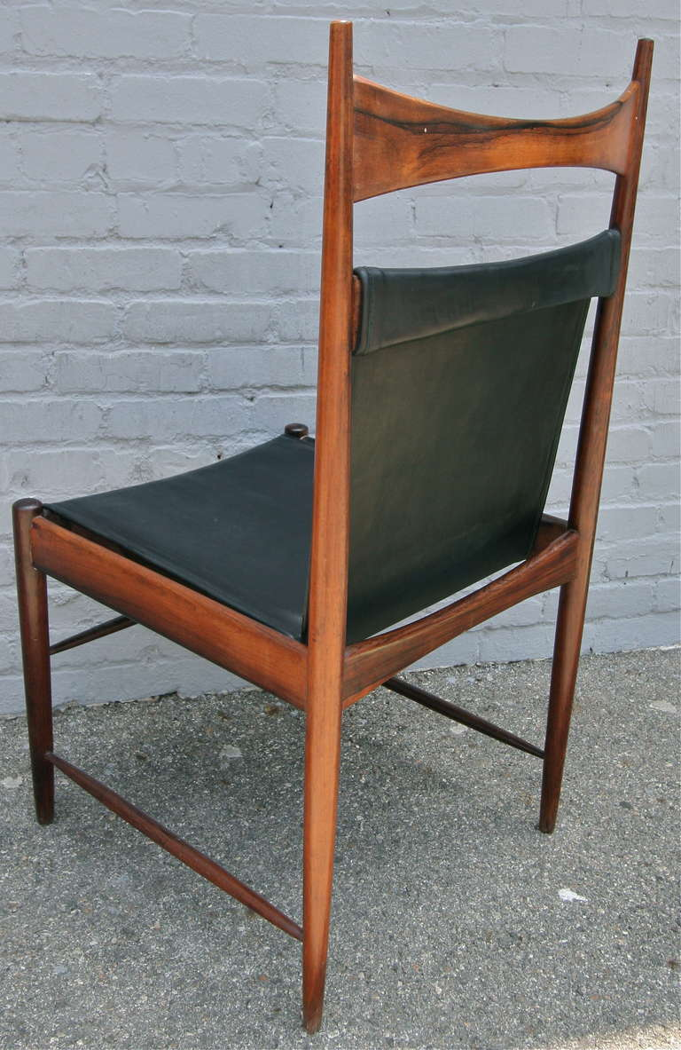 Set of 1960s Brazilian Jacaranda Cantu Chairs by Sergio Rodrigues For Sale 2