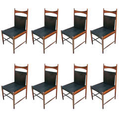 Set of 1960s Brazilian Jacaranda Cantu Chairs by Sergio Rodrigues