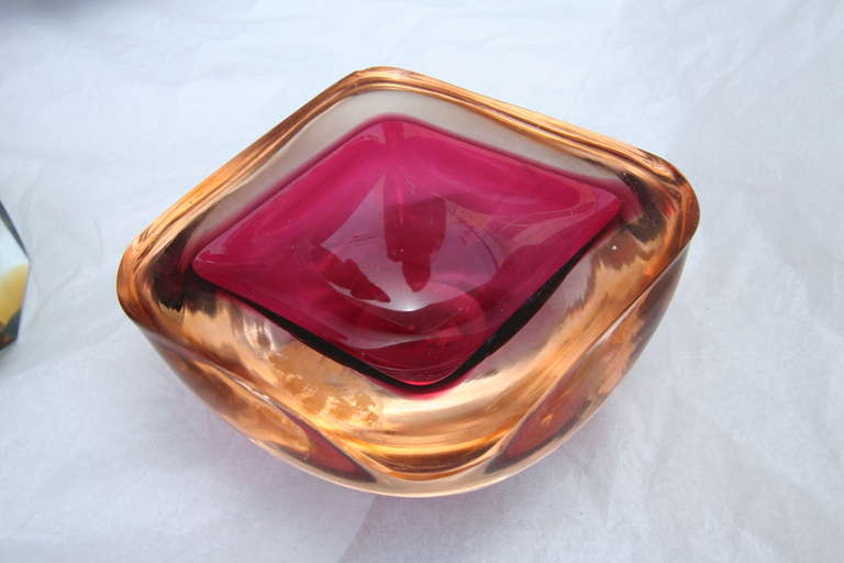 Mid-Century Modern Collection of Colorful Murano Glass Pieces For Sale