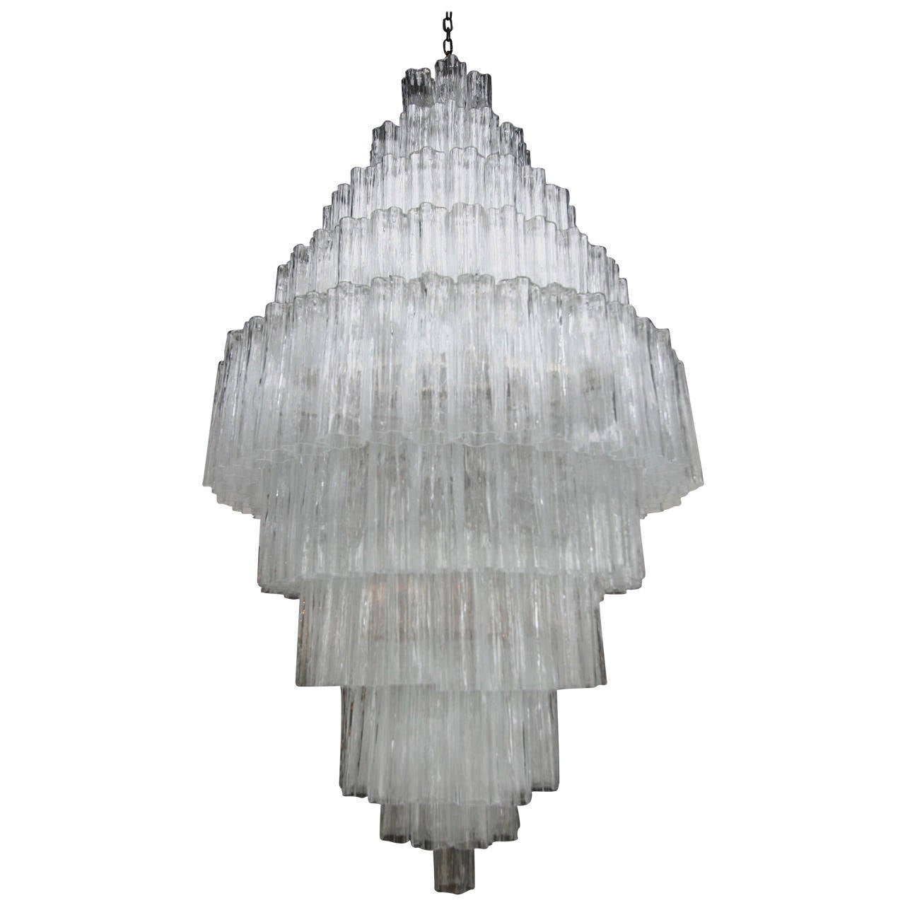 Tiered 1970s Murano Glass Chandelier