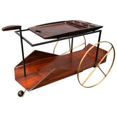 Carrinho de Cha Brazilian Tea or Bar Cart by Jorge Zalszupin